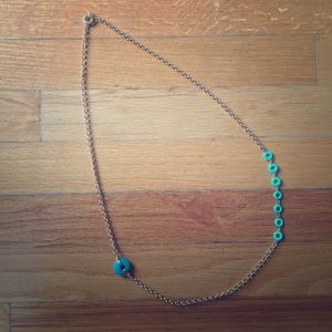 Turquoise Rings Necklace